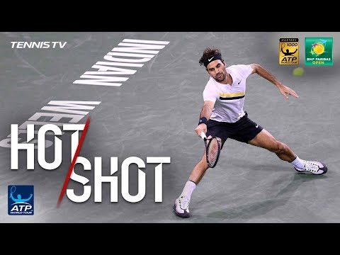 Hot Shot: Federer Nails Running Lob In Indian Wells QF 2018