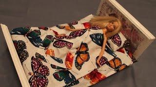 Как сшить постельное белье для куклы Барби. \ How to make bedding set for Barbie dolls(, 2015-03-17T18:15:24.000Z)