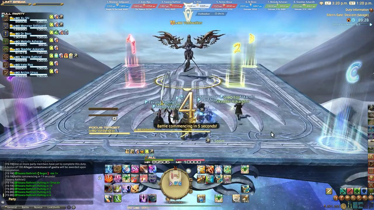 FFXIV ShB - Eden's Gate: Descent (Savage) First Clear - Monk POV