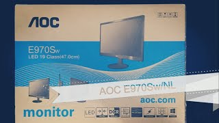 AOC E970SWN MONITOR UNBOXING AND REVIEW