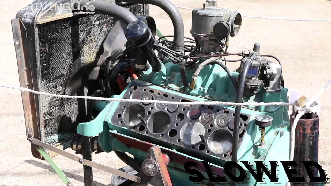 hight resolution of look inside flathead v8 engine while running