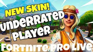 NEW DREAMFLOWER SKIN | UNDERRATED PLAYER | FAST BUILDER | Fortnite Battle Royale LIVE