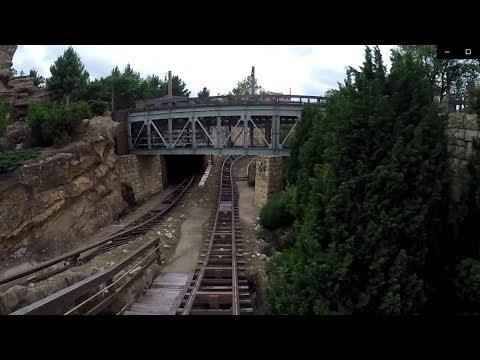 Big Grizzly Mountain Runaway Mine Cars On Ride POV - Hong Kong Disneyland