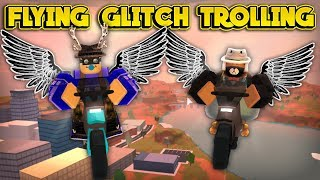 TROLLING WITH THE NEW FLYING GLITCH! (ROBLOX Jailbreak)