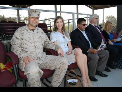 Military Retirement Ceremony in Camp Pendleton Marine Base Oceanside, California