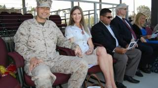 Military Retirement Ceremony in Camp Pendleton Marine Base Oceanside, California