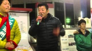 高槻駅前で行われた維新の会の松浪ケンタさん、そして大阪府の知事で、...