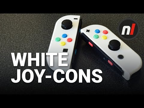 Thumbnail: White Joy-Cons for Nintendo Switch - $20 Easy Custom Joy-Cons Without Painting