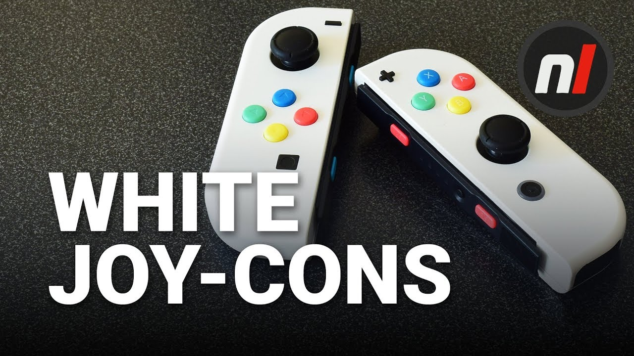 White Joy Cons For Nintendo Switch 20 Easy Custom Joycon Left Right Grey Without Painting