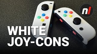 White Joy-Cons for Nintendo Switch - $20 Easy Custom Joy-Cons Without Painting