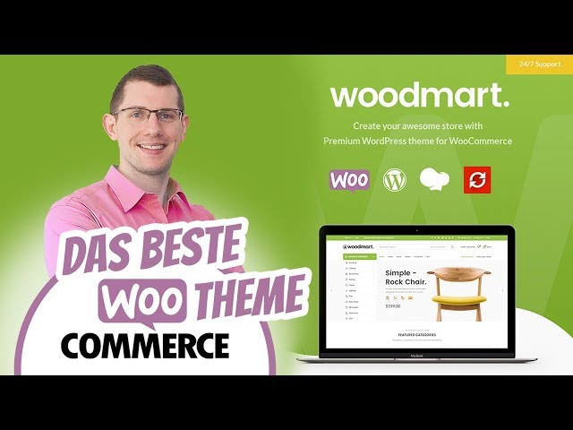 Bestes WooCommerce Theme Deutsch: WoodMart Template Onlineshop