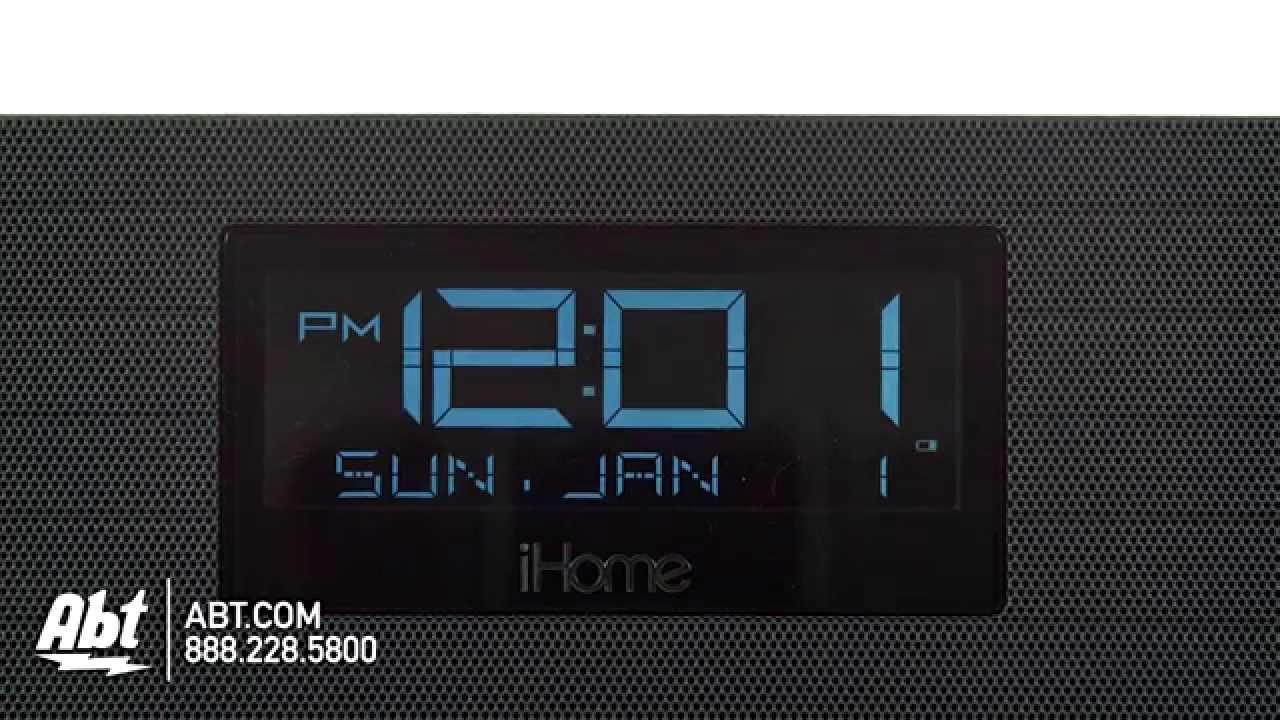 iHome NFC Bluetooth FM Clock Radio and Speakerphone - IBN97G Overview