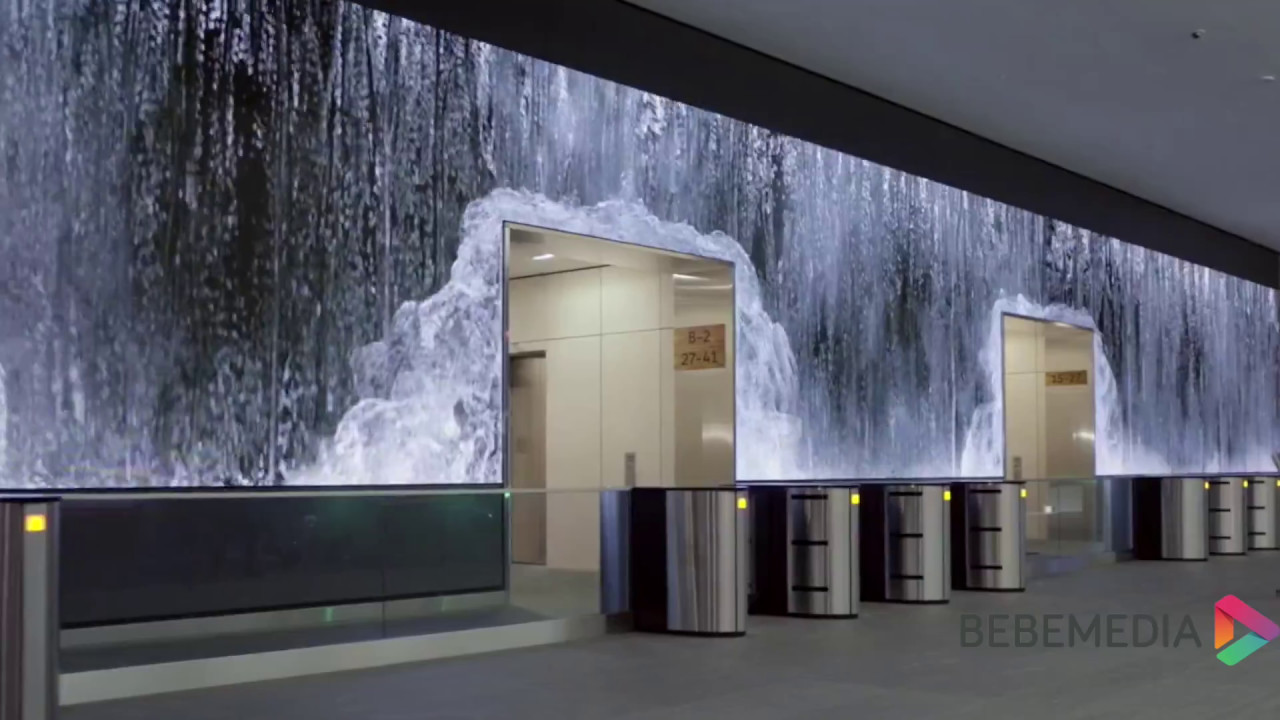 Bebe Media Led Wall Office Lobby Youtube