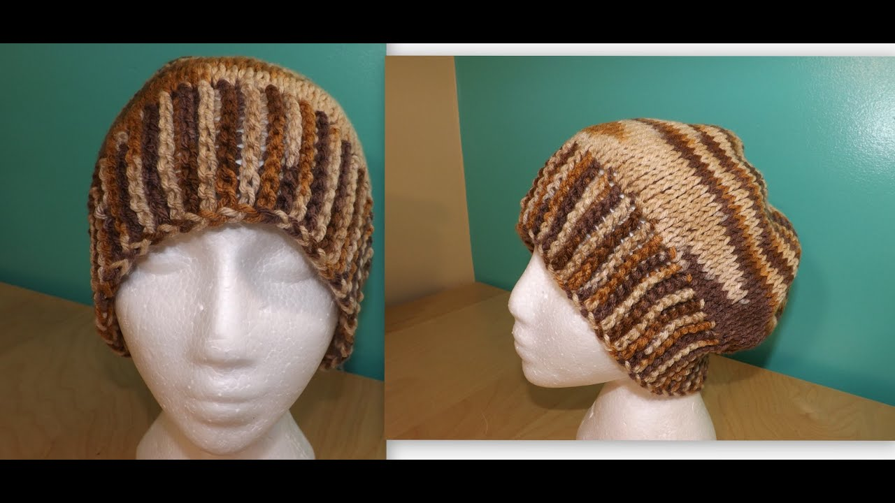 How to make a Tunisian crochet mans hat - with Ruby Stedman - YouTube