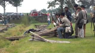 Civil War Era Battle With Cannons Reenactment Henrietta, Ny