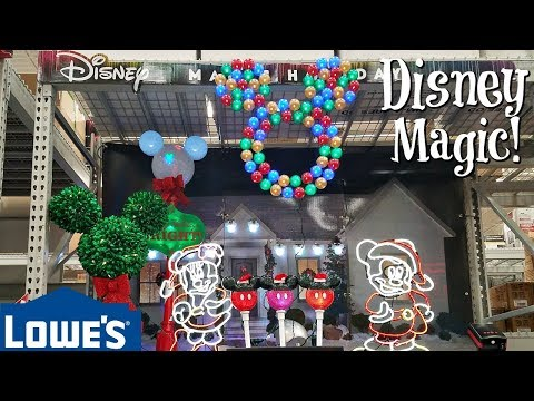 Lowes Disney Christmas 2020 Shop With Me LOWES CHRISTMAS DECORATIONS DISNEY 2017   YouTube