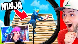 Reacting to Fortnite Streamers getting STREAM SNIPED!