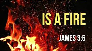 KJV Bible Songs: The tongue is a fire (James 3:6, Psalm 141:3 )