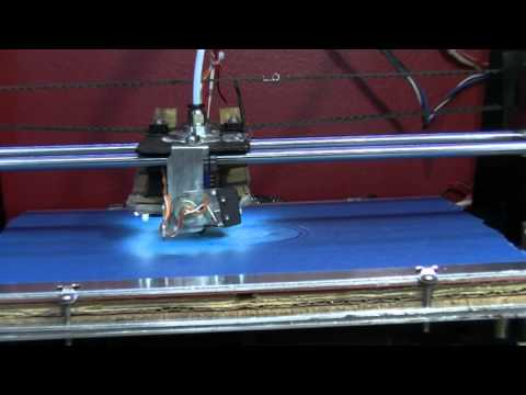 PLA Blue Painters Tape 3D print warm bed test
