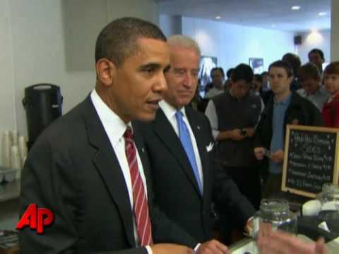 Raw Video: Obama and Biden Go on Burger Run