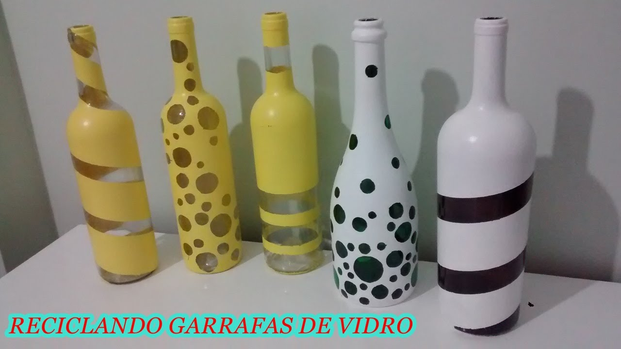 Fa a voc mesma reciclando garrafas de vidro para for Ideas para decorar la casa reciclando