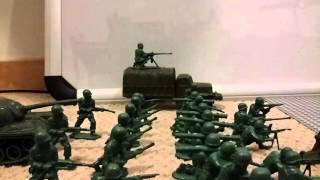 Lego people VS the green army