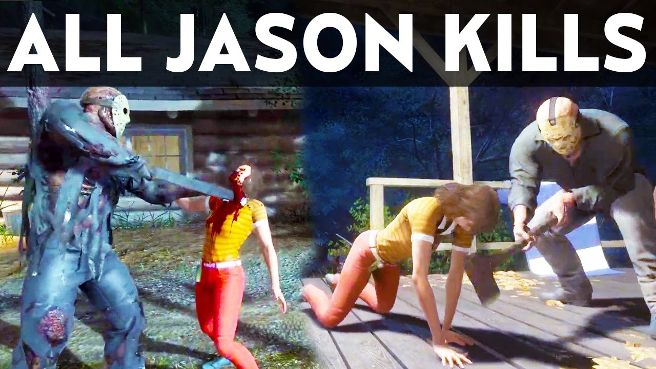 Download FRIDAY THE 13TH GAME ALL JASON VOORHEES KILLS Counselor Deaths Compilation Gameplay