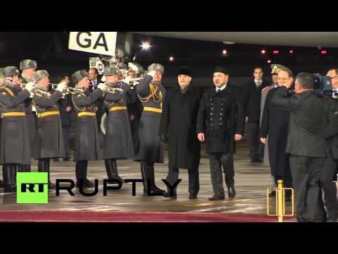 Russia: King Mohammed VI of Morocco touches down in Moscow