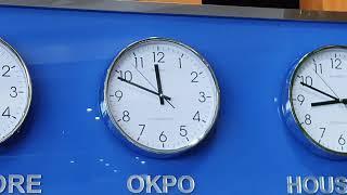 아인네트 gps시계, 대우조선설비시계 동작,각 도시시간…