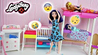 Morning Routine Marinette avec bébé boy, Anais et Emma | Miraculous Ladybug LOL Surprises dolls