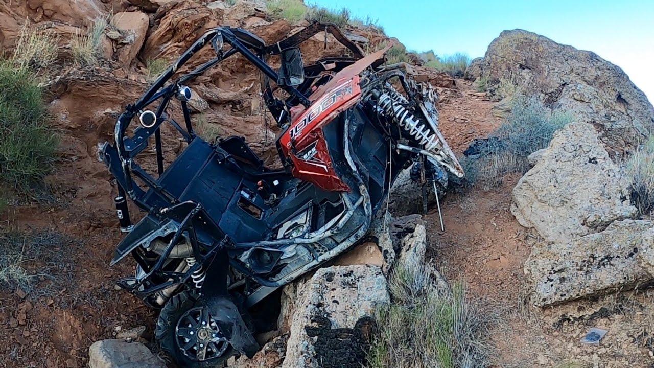 Razor off a 200 foot cliff!!