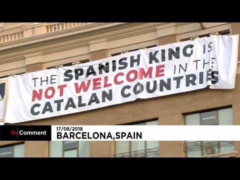 يورو نيوز:شاهد: ملك إسبانيا غير مرحب به في كتالونيا