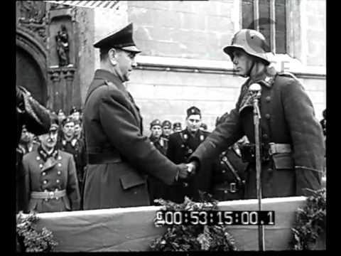 Zagabria - Il giuramento di fedeltà al Poglavnik ed alla Croazia di Allievi Ufficiali Ustascia