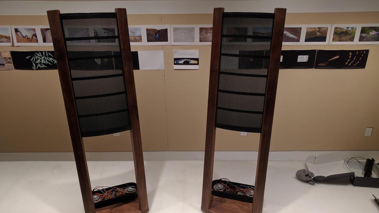 Home-built Curved Electrostatic Speaker Stereo System