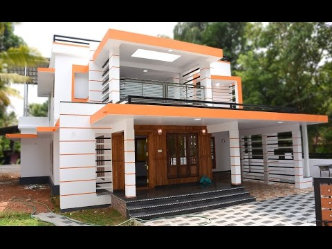 Athani,  8.5 cents plot and 2600 sq ft, stylish house for sale in Athani, very near Cochin Airport