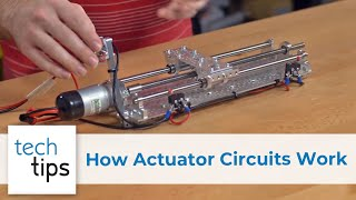 how linear actuator circuits works