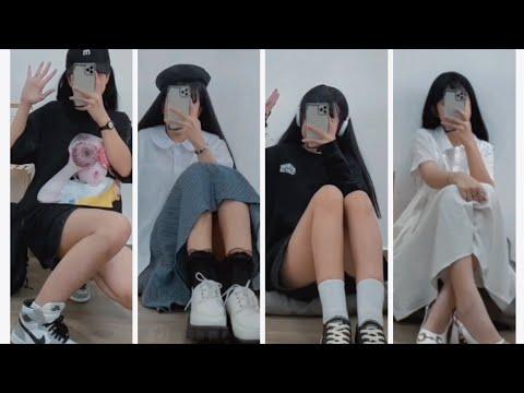 [Shopee haul] Review quần áo đi học cùng Tik tok (Outfits back to school ) #2