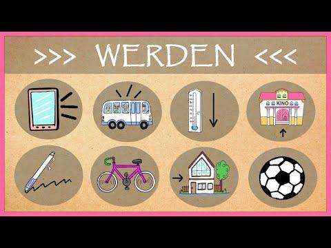 """deutsch-a2:-das-verb-""""werden""""-german-lesson-for-intermediate/beginner-level-(würden/wurden/geworden)"""
