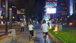 [4K] Gloomy Seoul city night walk around city hall : shameful tragedy