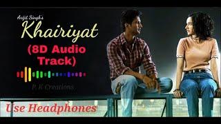 Khairiyat Pucho | Full (8D Audio) Song | Chhichhore | Arijit Singh | 2020 | P.K Creations |