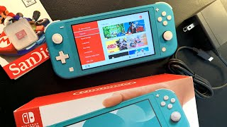 Nintendo Switch Lite Unboxing and Setup