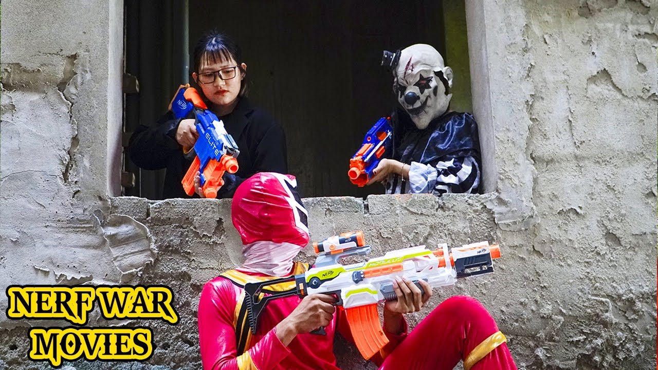 Nerf War Movies: Couple Spider X Warriors Nerf Guns Fight Criminal Group Greedy Crimes