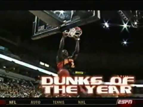 Top Dunks From the First Half of the NBA Season (2003-2004)