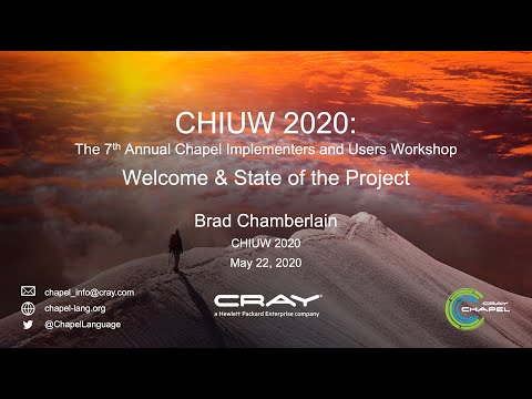 CHIUW 2020: Welcome And State Of The Project