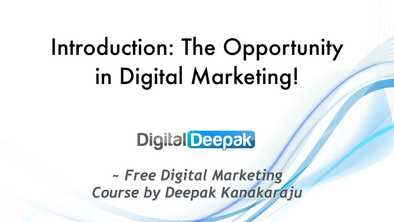 Internet Marketing Course: Lesson 1: Introduction
