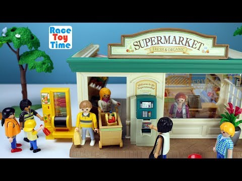 Playmobil ATM Vending Machine Toys and Calico Critters Supermarket Store Playsets