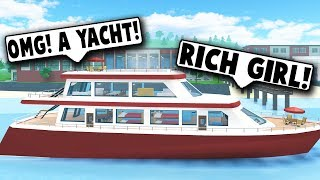 I BOUGHT A YACHT! THROWING AN EPIC PARTY! (Robloxian Highschool) Roblox Roleplay