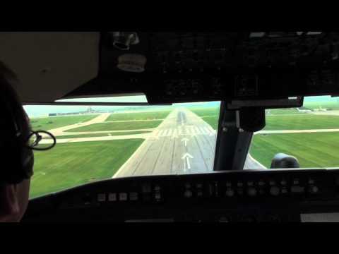 Pilot View Landing Challenger 604