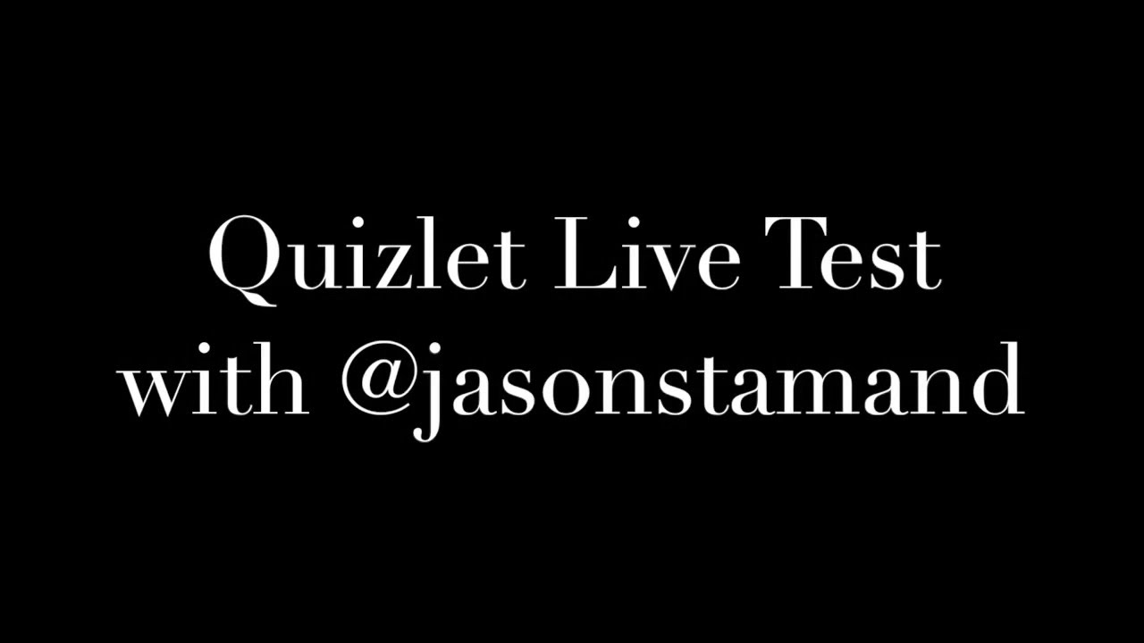 Quizlet Live - YouTube