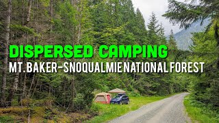 Dispersed Camping in Mt. Baker-Snoqualmie Natİonal Forest